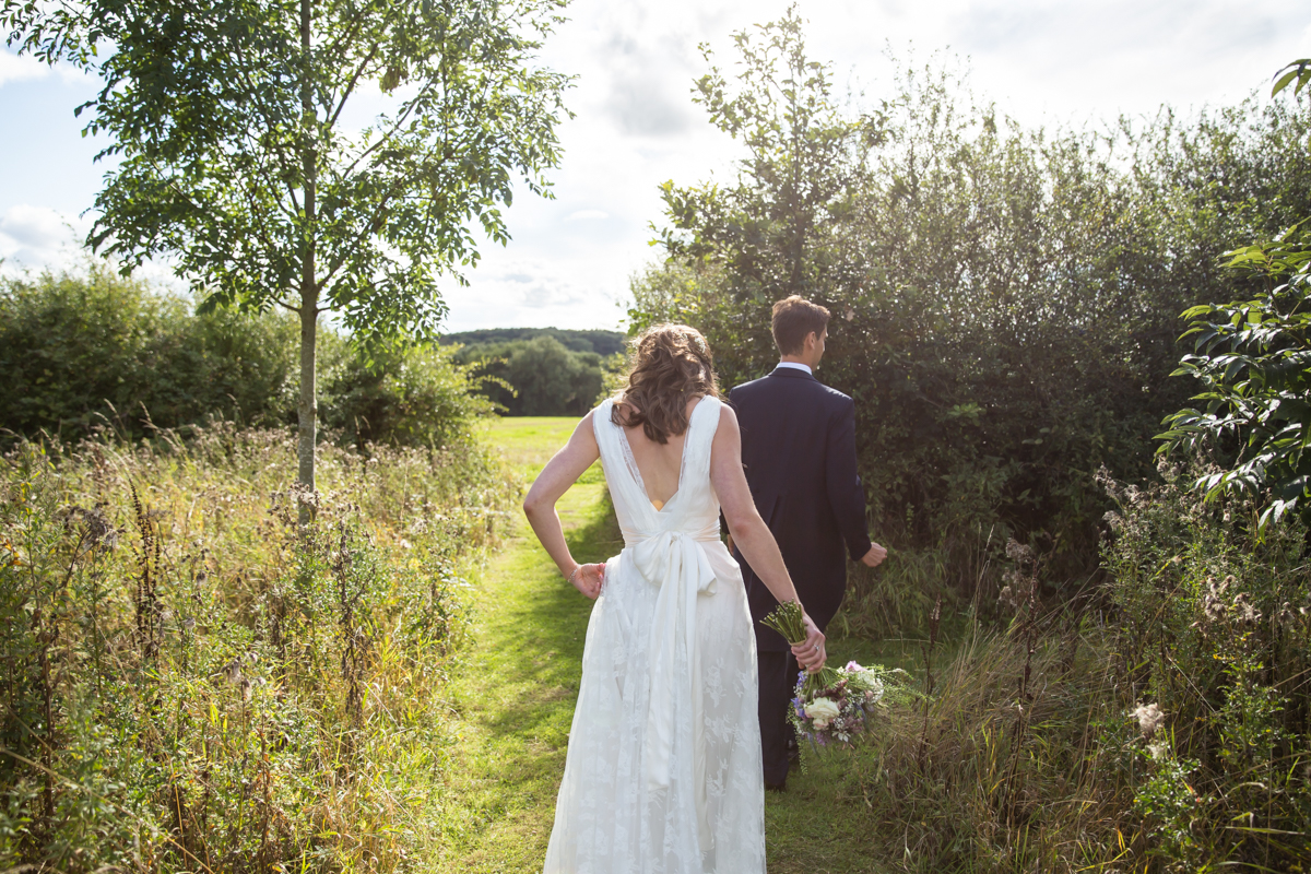 relaxed woodland wedding photography