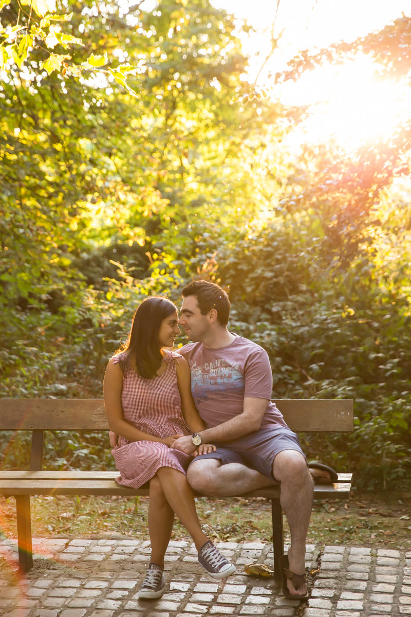 Golden hour woodland engagement shoot
