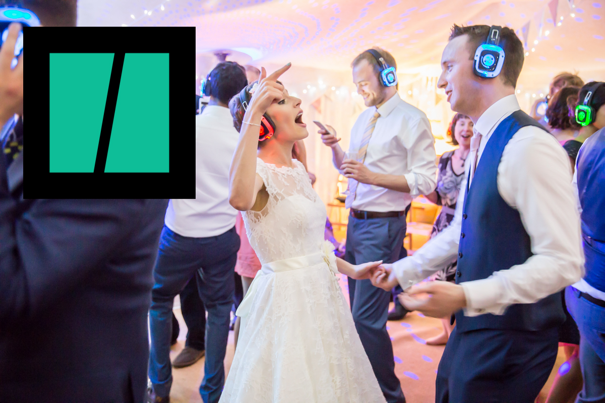 Silent disco wedding Huffington Post