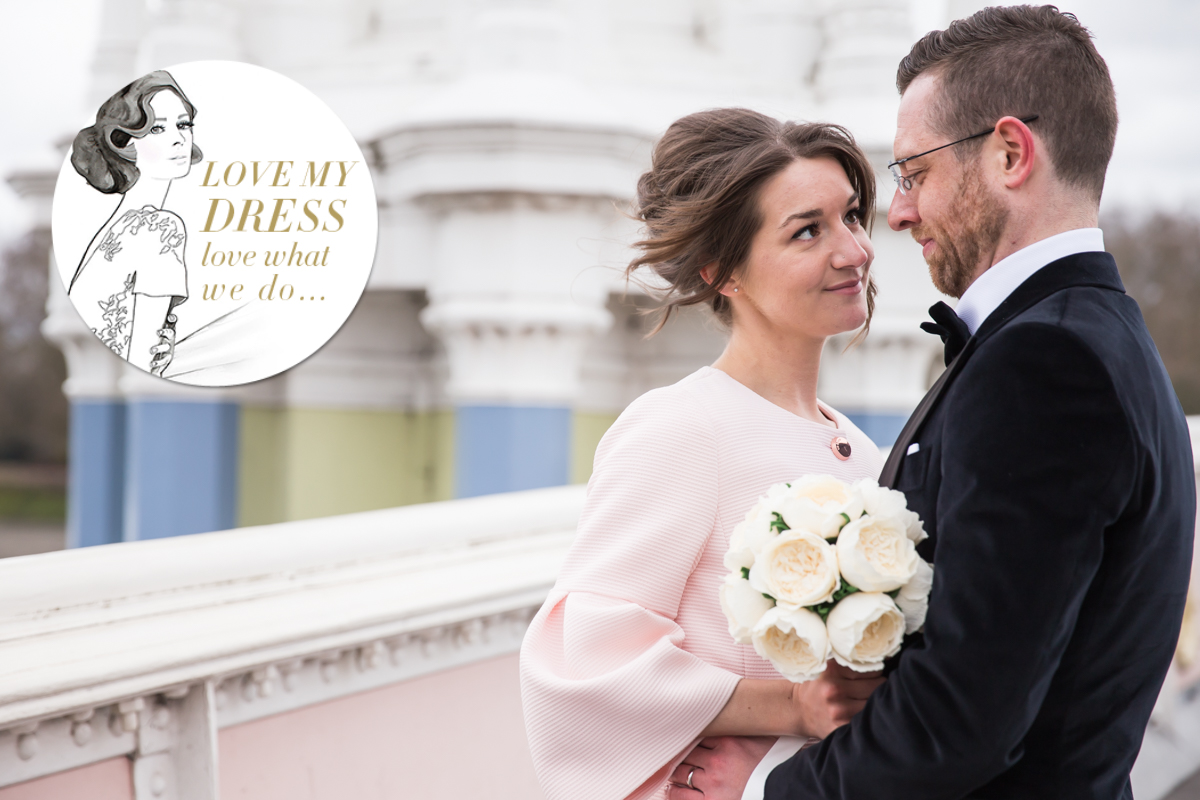 London wedding photographer Love my dress