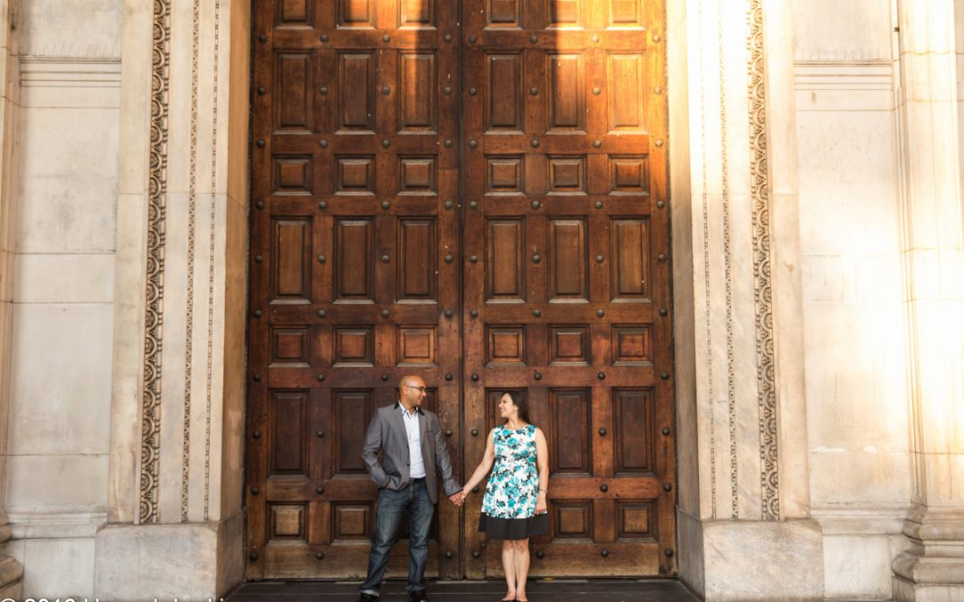 London Engagement Photography – St Paul's Sunset Engagement – Meera & Raj