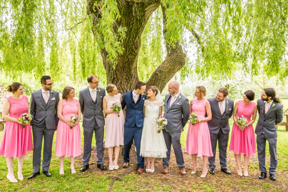 Bridesmaid and bestmen group photography