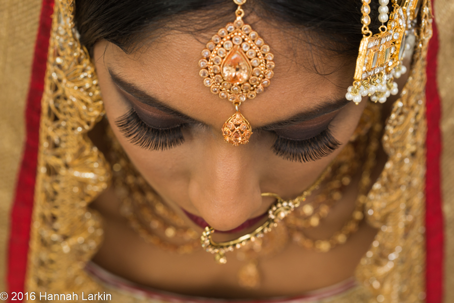 London Wedding Photography – Traditional Golden Indian Bride