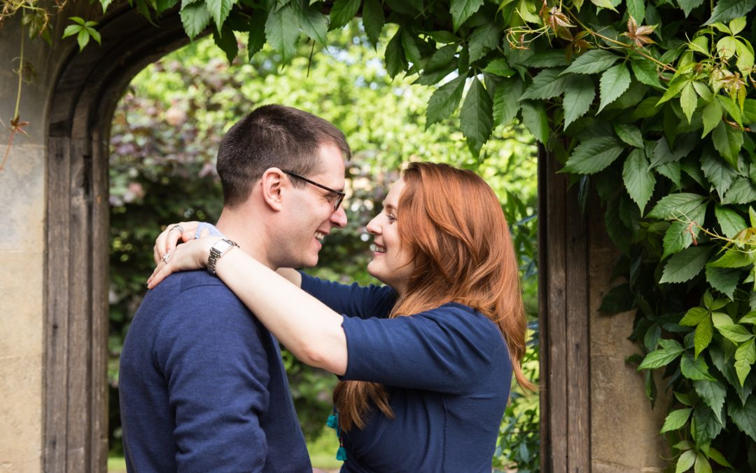 Engagement Photography Cambridge college prewed shoot