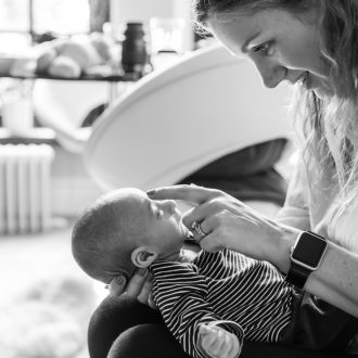 26 family portrait photographer London mum bonding with baby