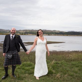 37 outdoor wedding ceremony Scotland Loch love