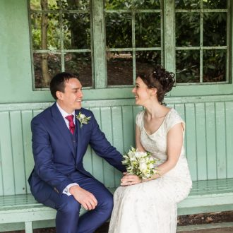 42 outdoor wedding London park bench photography