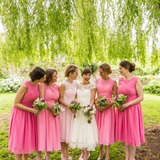 49 natural wedding photography London bridesmaid group photo