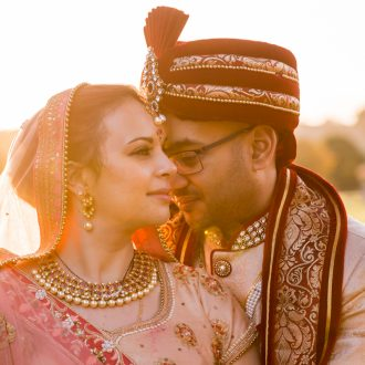 5 Hindu wedding outdoor photography golden hour London