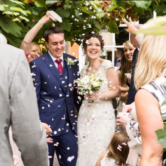 50 wedding photography London UK confetti the Vine