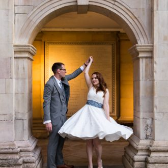 6 wedding photography London UK dancing outside
