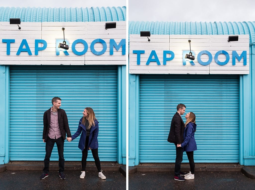 London engagement shoot Wimbledon pub