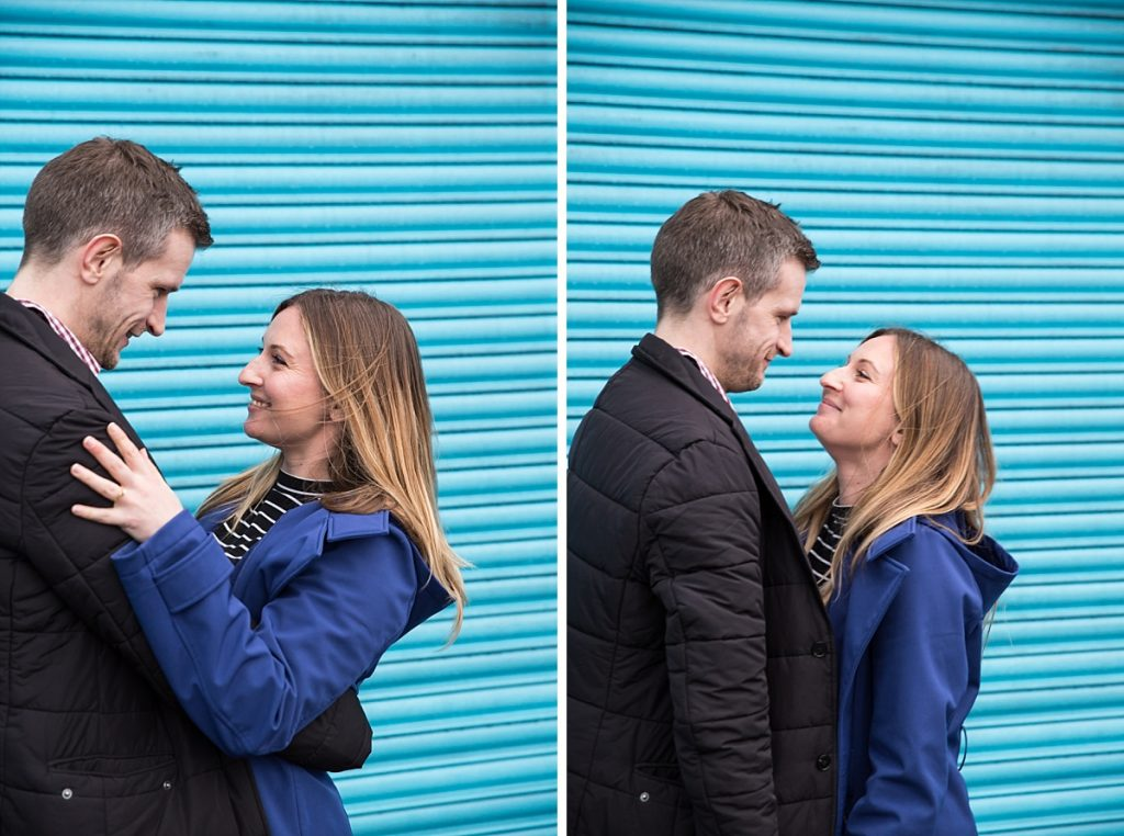 London winter engagement shoot