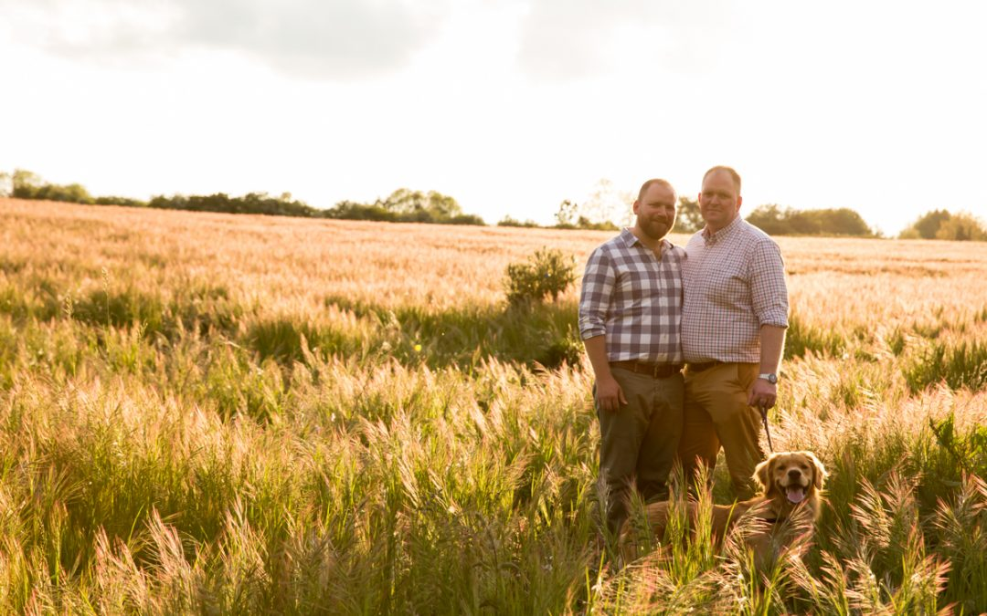 Engagement Photography – Gay Engagement Shoot on a Dog Walk – Richard & Calum