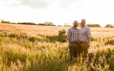 Engagement Photography – Gay Engagement Shoot on a Dog Walk – Richard & Calum