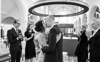 London Wedding Photography – Small London Wedding in Hammersmith Church – Triona & Manus