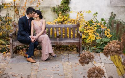 London Engagement Photography – St Dunstan in the East Autumn Engagement – Ai Yun & Gary