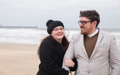 Engagement Photography – Winter Engagement Photos in South Shields – Fern & Ben